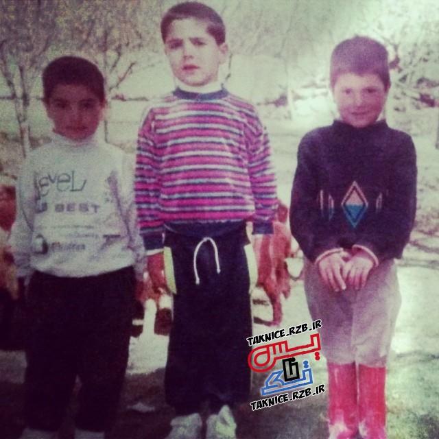 تک عکس دوران کودکی شهرام محمودی